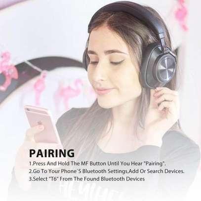 Bluedio T6S (Turbine) Active Noise Canceling Bluetooth Stereo Headphone - Black image 5