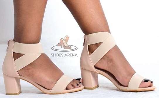 Open chunky heels image 3