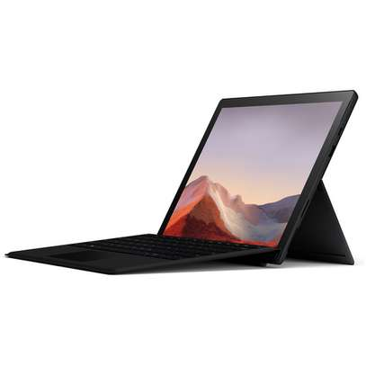 """Microsoft 12.3"""" Multi-Touch Surface Pro 7 Matte Black Bundle with Black Surface Pro Type Cover image 1"""