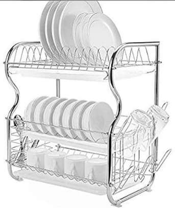 3 tier dish rack stainless steel image 1