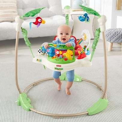 Jumperoo Baby Jump & Learn Stationary Jumper Baby Bouncing Swing image 2