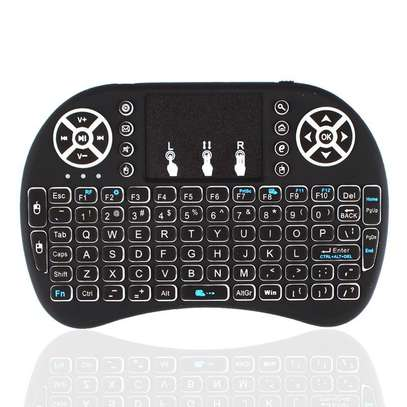 Wireless Mini Keyboard with Mouse Touchpad and Back-light for Android Box/ Smart TV/ Laptop - Black image 4