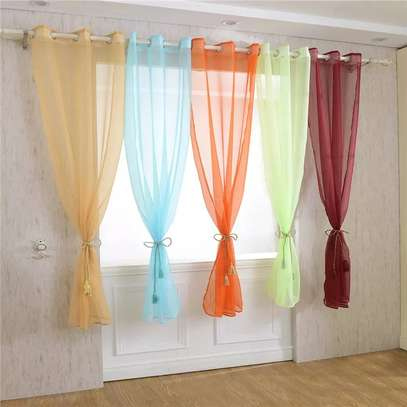 Curtains and matching curtain sheers image 4