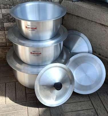 *Aluminium Cookware set* 4 cooking pots with lids ? image 1