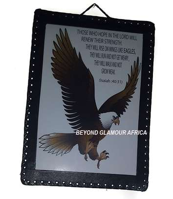 Those who hope on the lord Leather Wall hanging