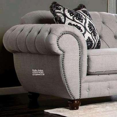 Three seater sofa plus two seater sofa/complete set of sofa/beige sofas/modern sofas/tufted sofas image 5