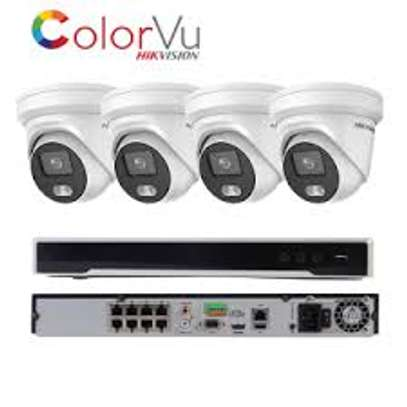 4 CCTV 2MP ColorVu camera complete package + INSTALLATION image 5