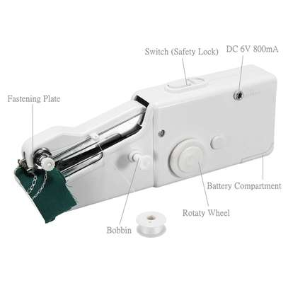 Portable Handy Mini Portable Electric Tailor Stitch Hand-held Sewing Machine image 1
