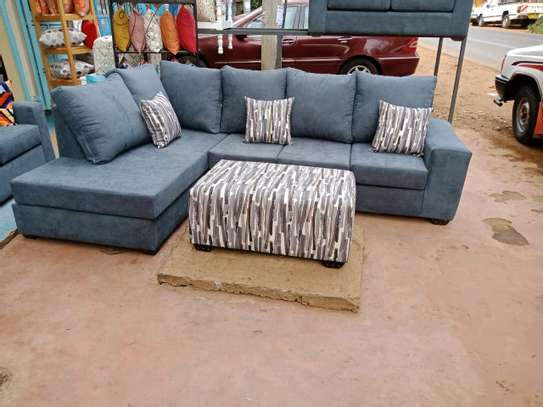 6 seater l shape and ottoman image 1