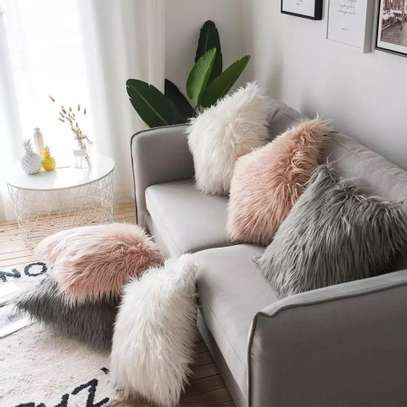Fluffy Throw Pillows image 1