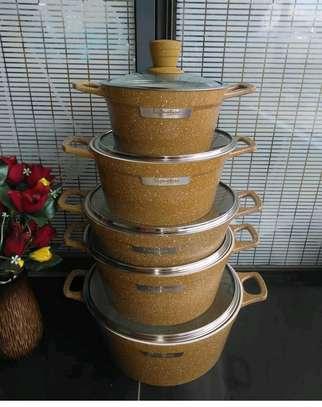 10pcs granite coated cookware set image 1