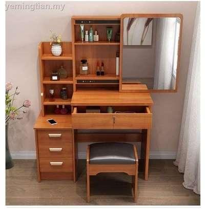 Dressing mirror tables plus stool set image 3