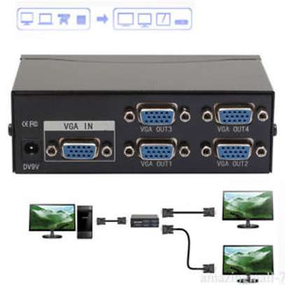 VGA Splitter Box 4 Port  1PC to 4 Monitors image 2