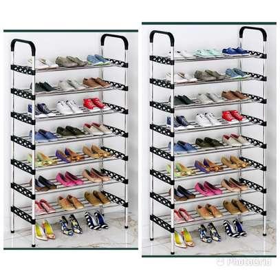 Multilayered (flowered) shoe rack image 2