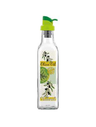 Glass olive oil jar image 1