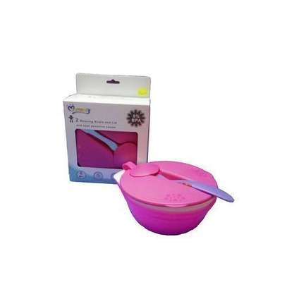 Mom Easy 2 Weaning Bowls and Lid and Temperature Sensing Spoon image 1