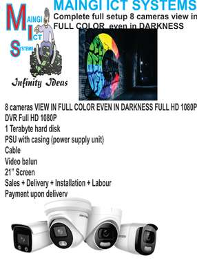 8 CCTV CAMERAS VIEW IN COLOUR EVEN IN DARKNESS FULL HD 1080P Complete Sales Plus Installation image 1