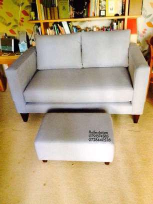 Grey two seater sofas/ footrest puff/classic sofas for sale in Nairobi Kenya image 1
