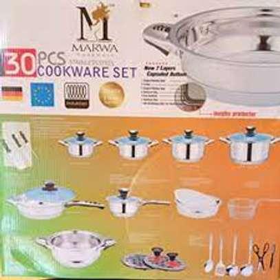 Marwa German Life 30pcs Stainless Cookware Set image 2