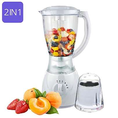 Electric Blender 1.5L Super Compact With Auto Clean – White image 1