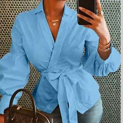 Belted Blouse Top image 2