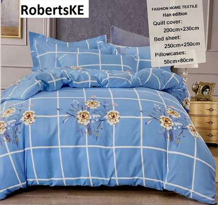 6by6 blue flowered duvet cover image 1