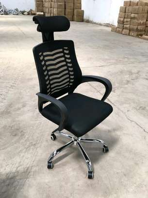 Office chair with head rest image 1