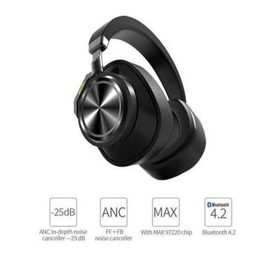 Bluedio T6S (Turbine) Active Noise Canceling Bluetooth Stereo Headphone - Black image 1