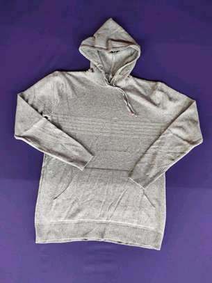 Gray hooded sweaters image 2