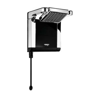 Lorenzetti Acqua Star instant shower water heater Black & Chrome image 1