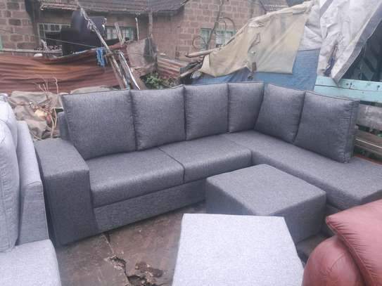 Ready Made Beautiful Contemporary Quality 6 Seater Sectional Sofa + Footrest/Puff/Ottaman image 2