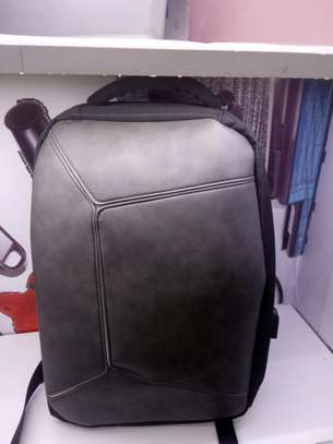 laptop back pack pure leather image 4