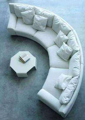 Round/swivel classic sectional U-sofas image 12