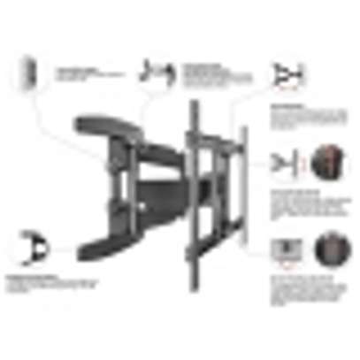 """Full Motion Articulating TV Wall Mount for 40"""" to 70 Inch Flat Screen LED LCD TVs up to 100lbs P6 image 7"""