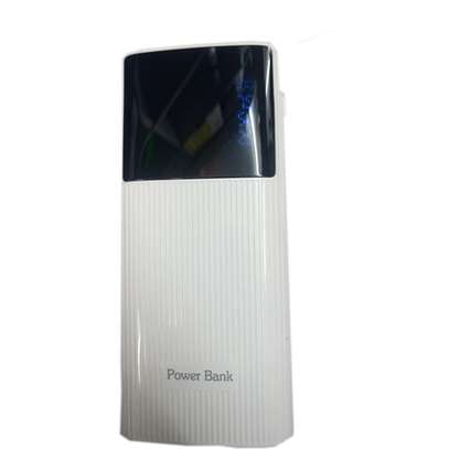 20000mAh powerbank With Powerful LED Light - White.