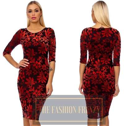 Red Velour Bodycon