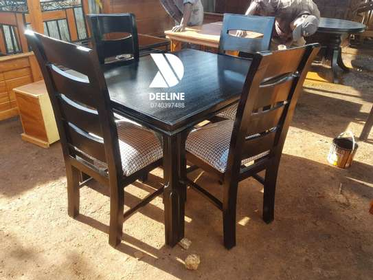 Black 4 Seater Dining Table sets image 7