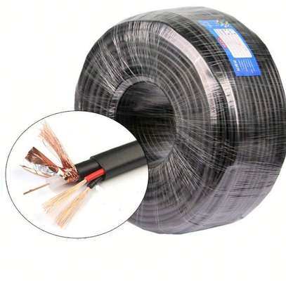 Coaxial cable with 2core power cable 200mts