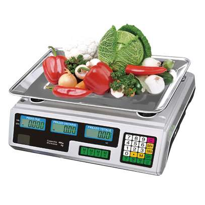Price Computing Scale Farmers Market Meat Deli Candy Store Kitchen image 1