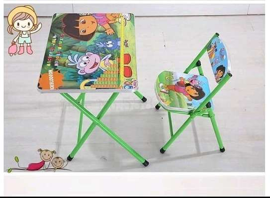 Kids foldable chair+foldable seat set image 4