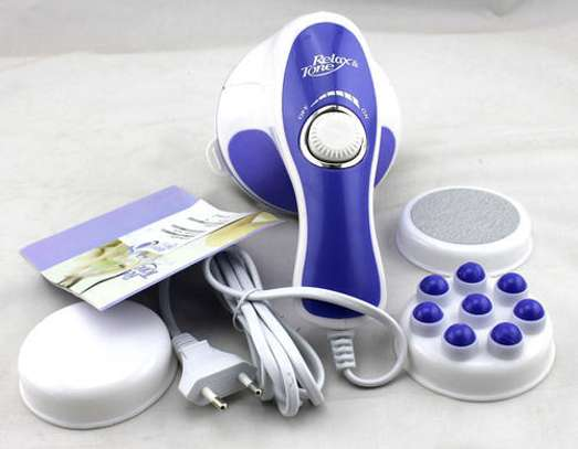 Relax & Tone Full Body Sculptor Massager - Relax & Spin - Tone Slimmer - White & Blue image 3