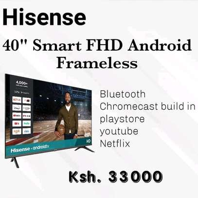 40 inch Hisense Android Frameless +2 months warranty image 1