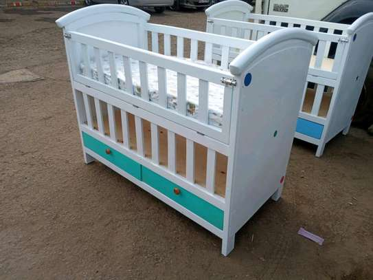 Baby wooden cot image 1