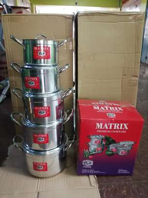 Cooking Pots 5 Pieces Stainless Steel