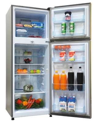 MIka No Frost Refrigerator, 270L, Double Door, Stainless Steel image 2