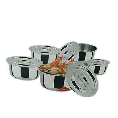 Cooking Sufurias-10 Pcs Silver - BLACK