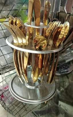 24pieces Gold Cutlery Set. image 1