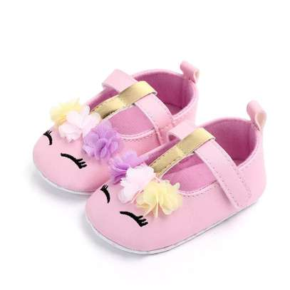 Cute PU leather baby girl shoes image 2