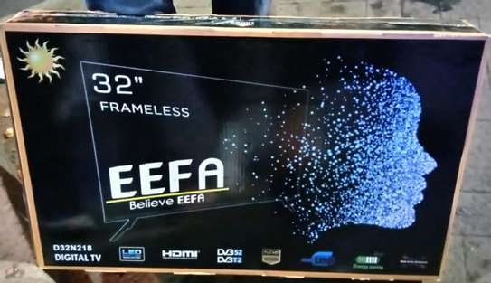 "32"" Inch TV New EEFA Frameless Digital TV With 2 Years Warranty image 1"