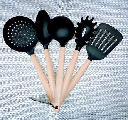 5pcs Multi purpose colored nonstick serving spoon image 1